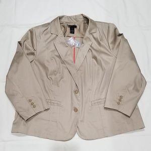 Lane Bryant khaki blazer size 24
